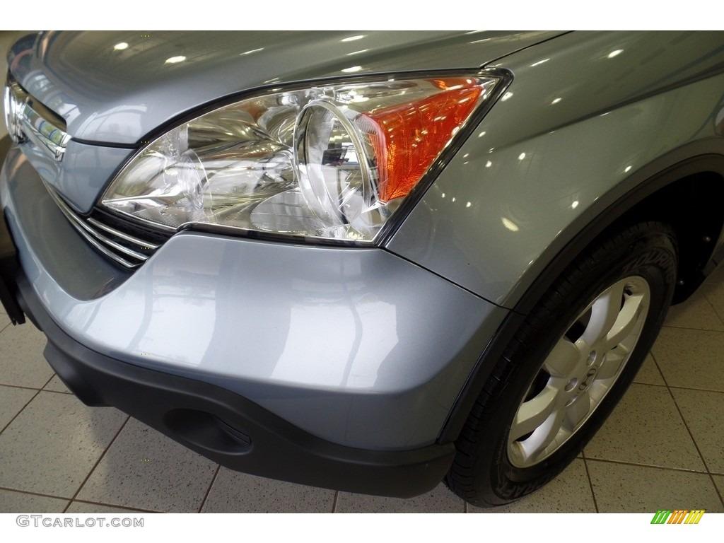 2009 CR-V EX 4WD - Glacier Blue Metallic / Gray photo #8