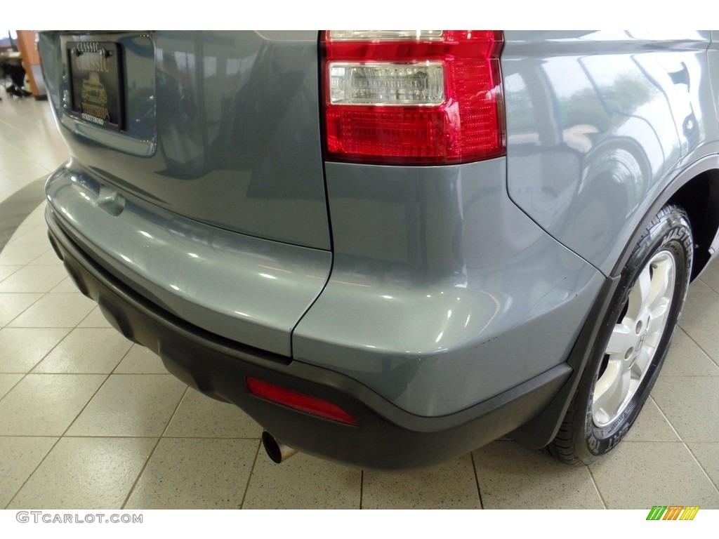 2009 CR-V EX 4WD - Glacier Blue Metallic / Gray photo #10