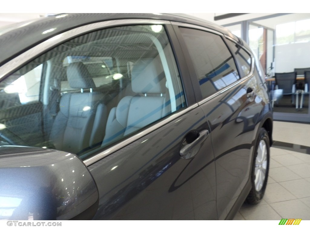 2013 CR-V EX-L AWD - Polished Metal Metallic / Gray photo #8