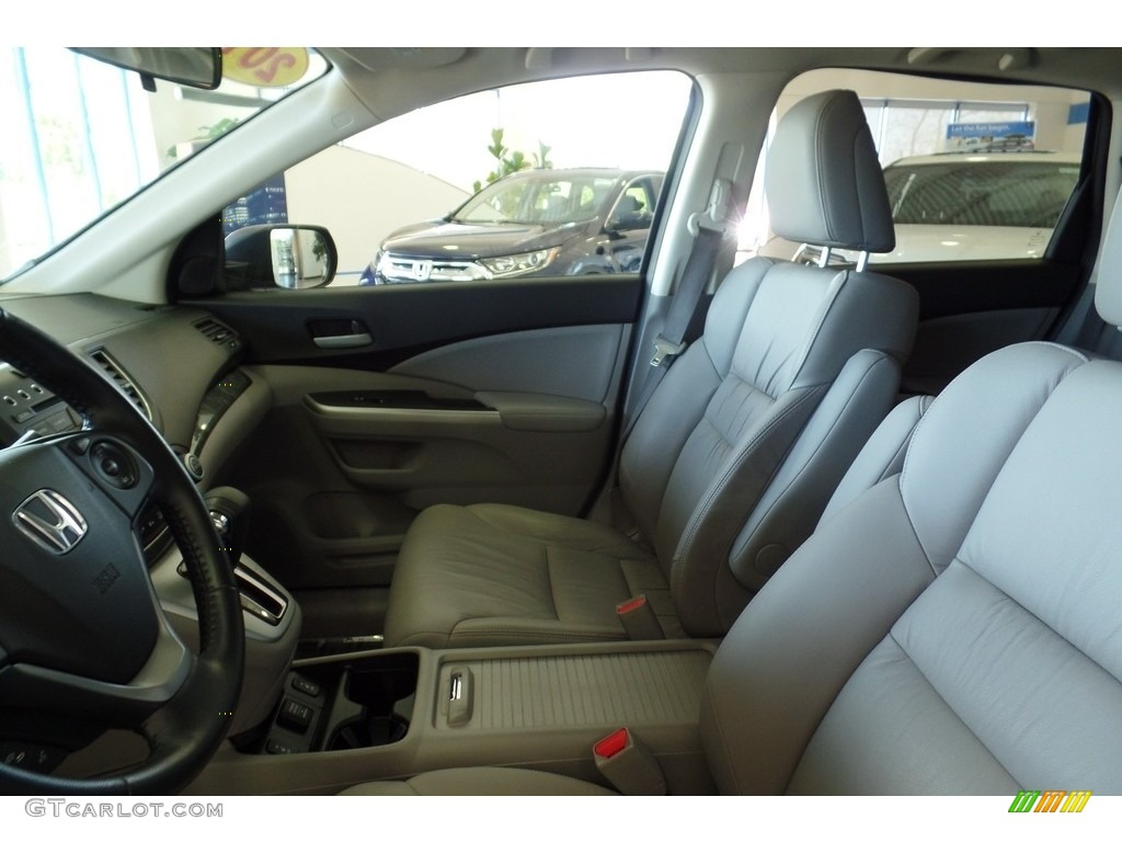 2013 CR-V EX-L AWD - Polished Metal Metallic / Gray photo #16