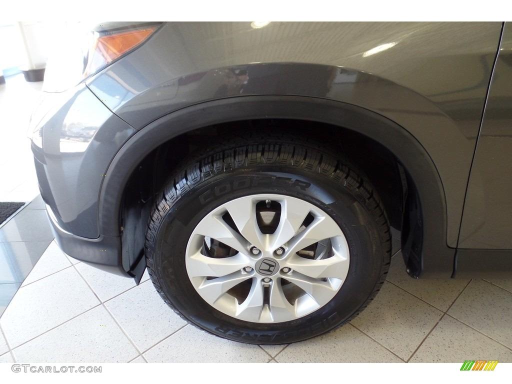2013 CR-V EX-L AWD - Polished Metal Metallic / Gray photo #34