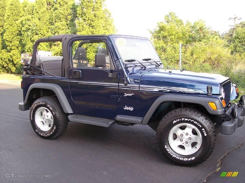 Nice Patriot Blue Pearl Jeep Wrangler. Jeep Wrangler Sport 4x4