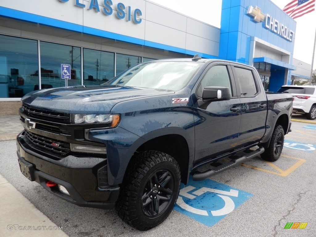 2019 Silverado 1500 LT Z71 Trail Boss Crew Cab 4WD - Northsky Blue Metallic / Jet Black photo #1