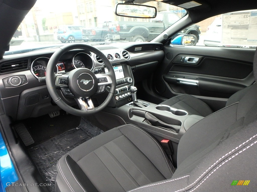 Ebony Interior 2019 Ford Mustang Ecoboost Fastback Photo