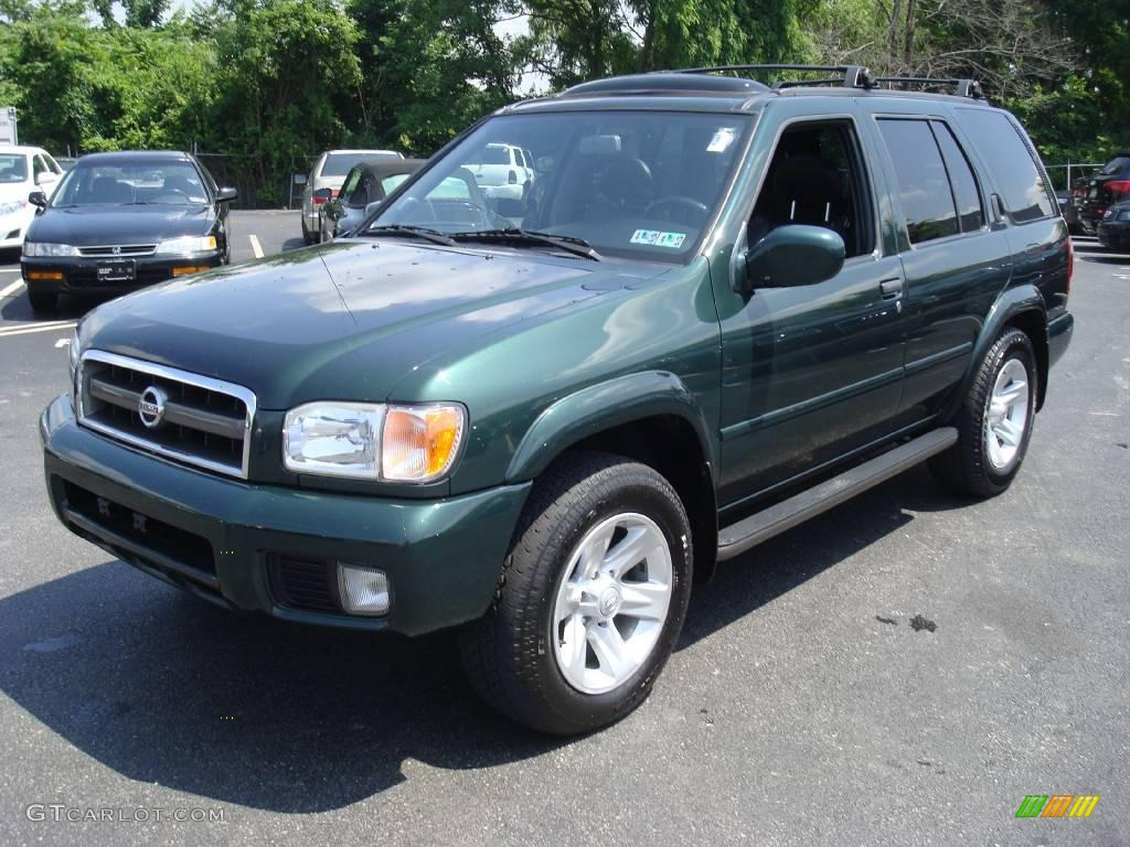 2002 pathfinder le 4x4 sherwood green pearl charcoal photo 1