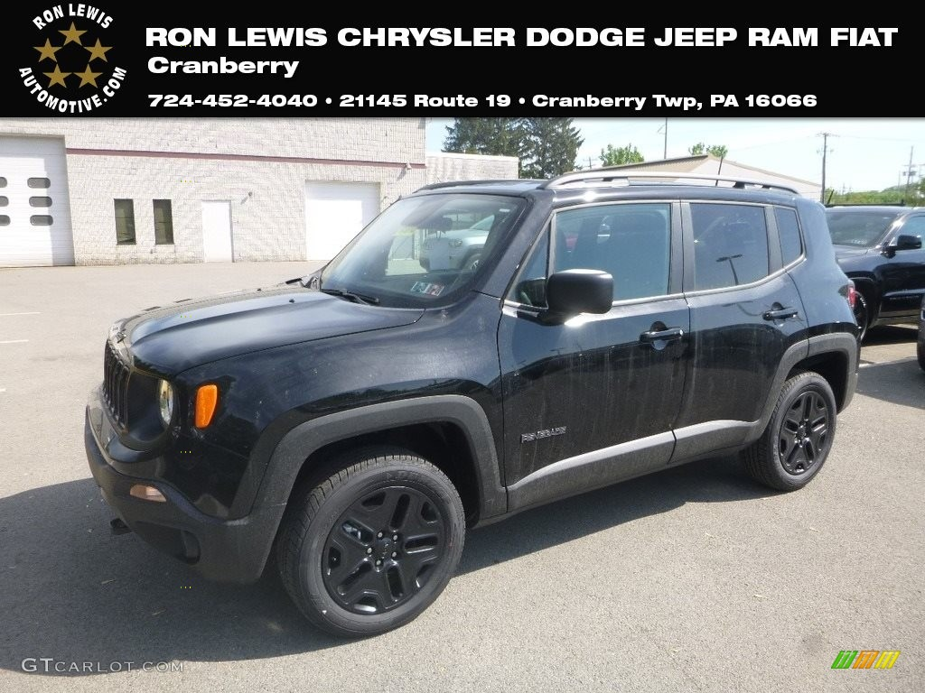 2019 Renegade Sport 4x4 - Black / Black photo #1