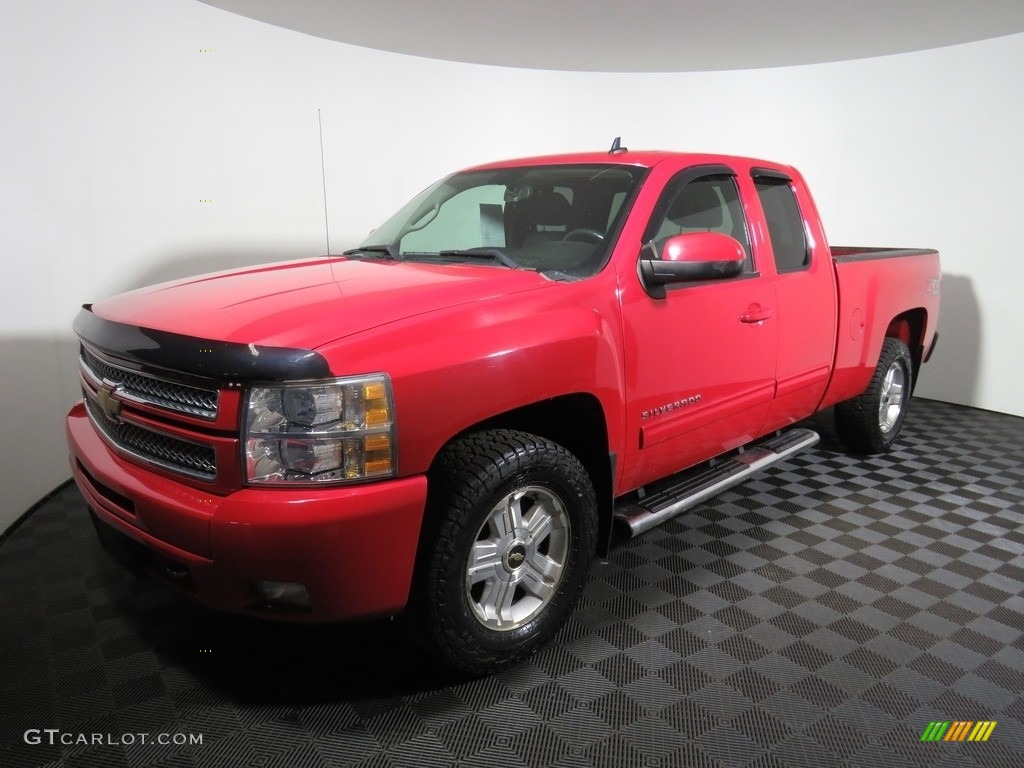 2012 Silverado 1500 LT Extended Cab 4x4 - Victory Red / Ebony photo #7
