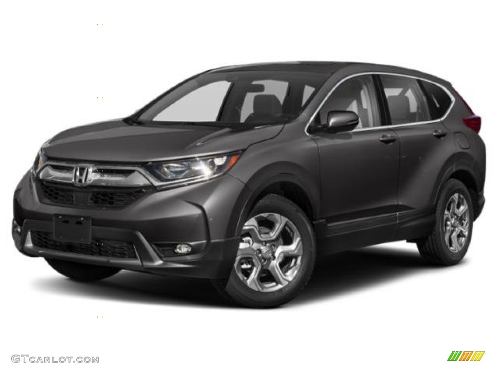 2019 CR-V EX - Modern Steel Metallic / Black photo #29