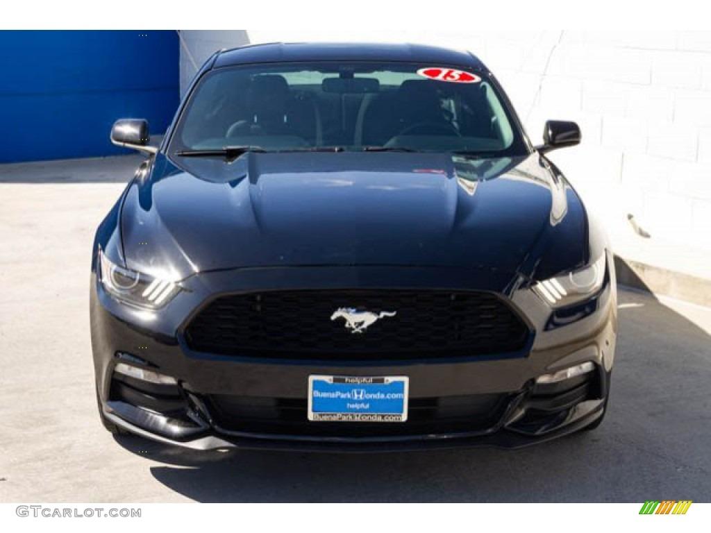 2015 Mustang V6 Coupe - Black / Ebony photo #7