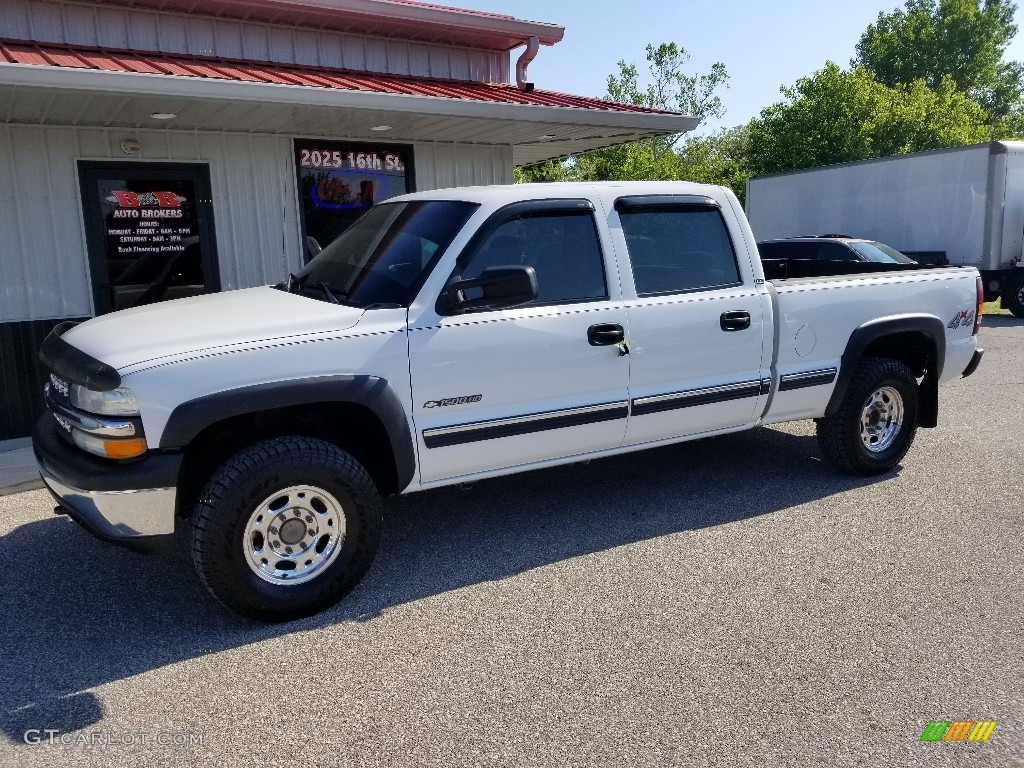 2002 Silverado 1500 LT Crew Cab 4x4 - Summit White / Graphite Gray photo #1