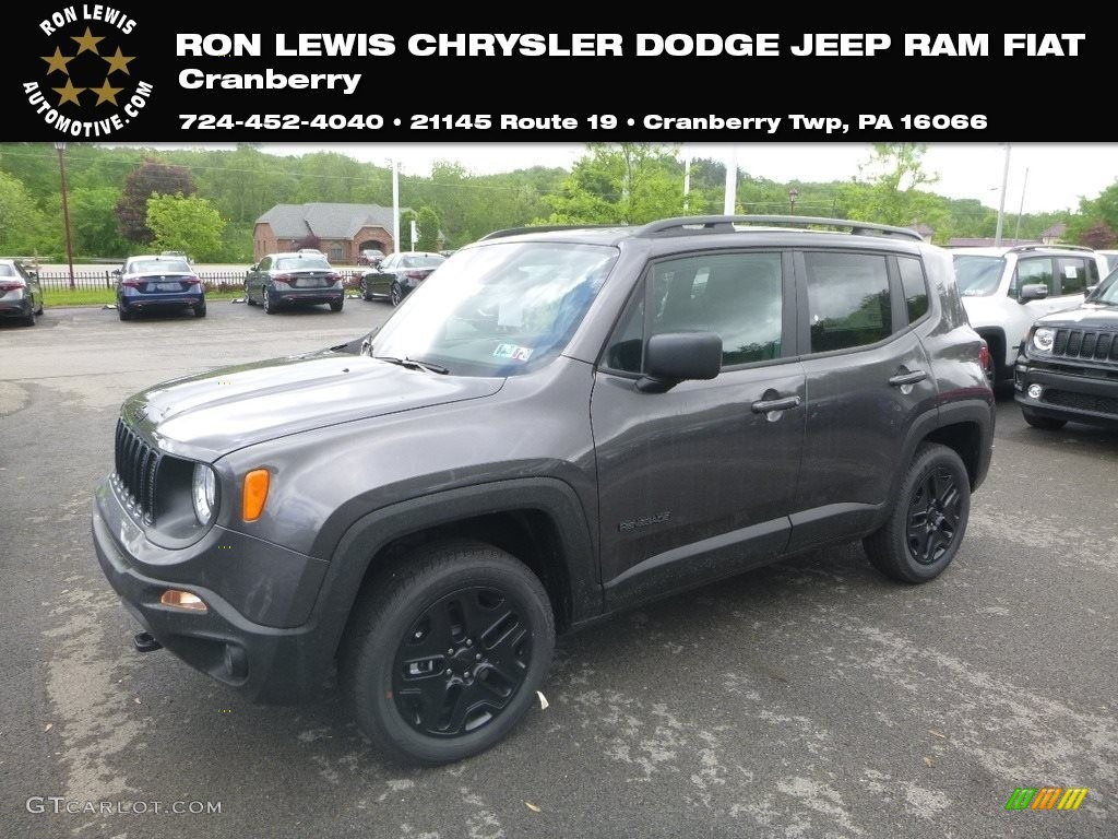 2019 Renegade Sport 4x4 - Granite Crystal Metallic / Black photo #1