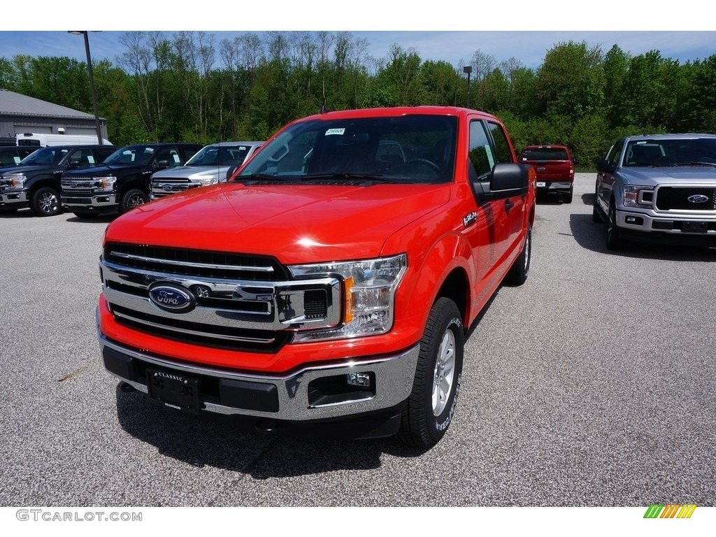 2019 F150 XL SuperCrew 4x4 - Race Red / Earth Gray photo #1