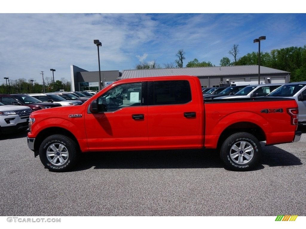 2019 F150 XL SuperCrew 4x4 - Race Red / Earth Gray photo #2