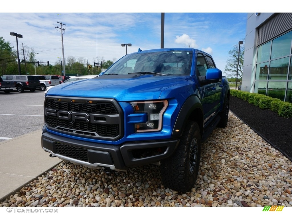 2019 F150 SVT Raptor SuperCrew 4x4 - Velocity Blue / Raptor Black photo #1