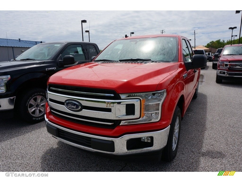 2019 F150 XLT SuperCrew - Race Red / Earth Gray photo #1