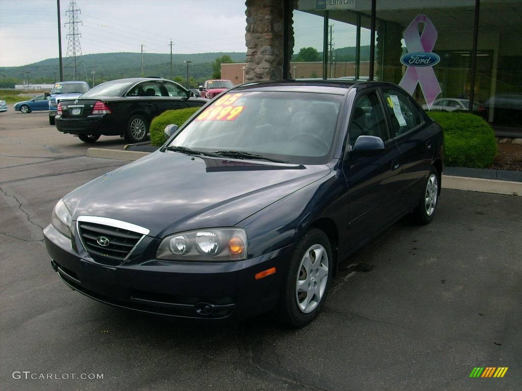 2005 moonlit blue hyundai elantra gls sedan 13301383. Black Bedroom Furniture Sets. Home Design Ideas