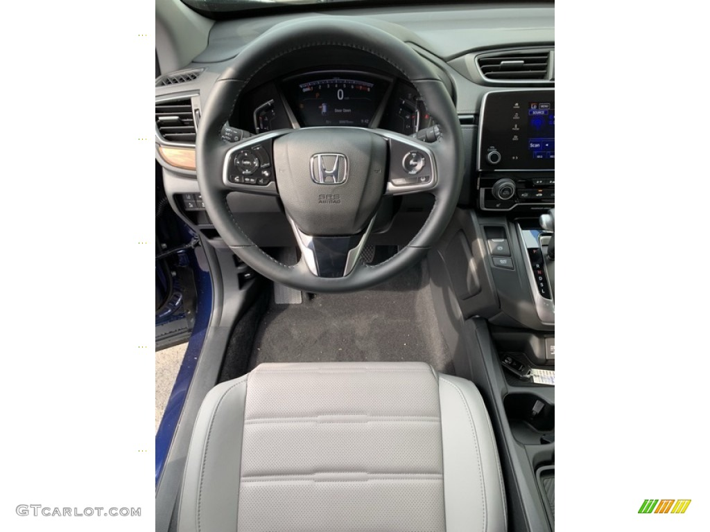 2019 CR-V EX-L - Obsidian Blue Pearl / Gray photo #13