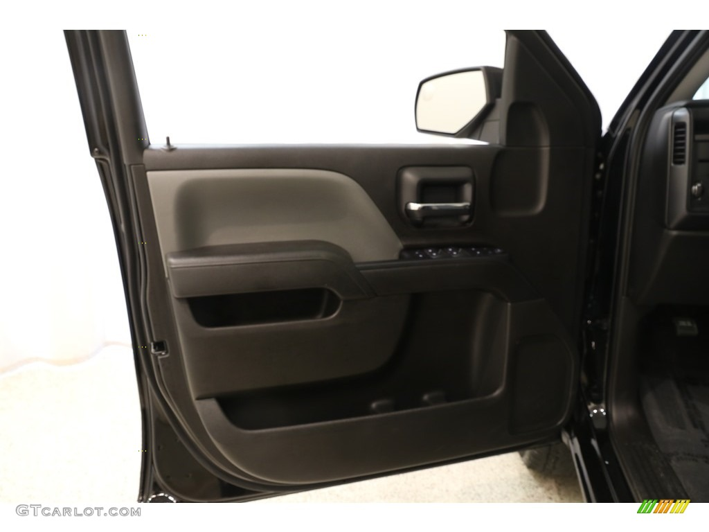 2018 Silverado 1500 Custom Crew Cab 4x4 - Black / Dark Ash/Jet Black photo #4