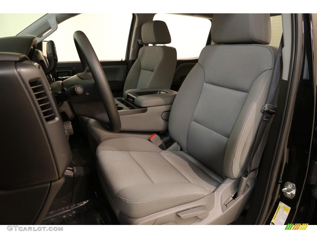 2018 Silverado 1500 Custom Crew Cab 4x4 - Black / Dark Ash/Jet Black photo #5