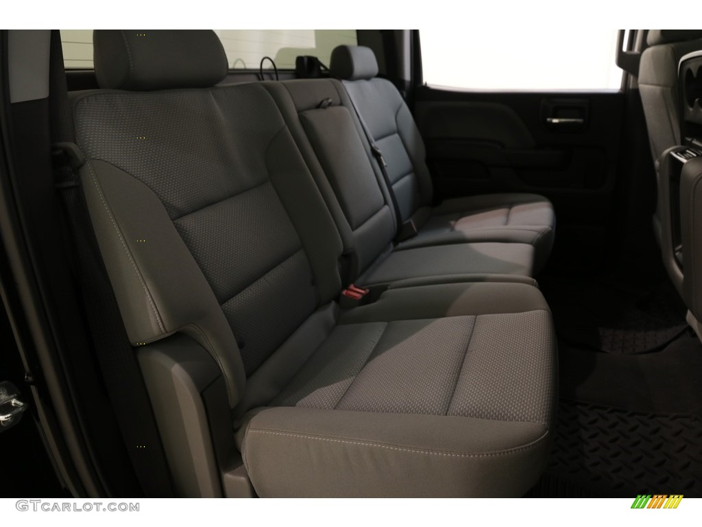 2018 Silverado 1500 Custom Crew Cab 4x4 - Black / Dark Ash/Jet Black photo #19