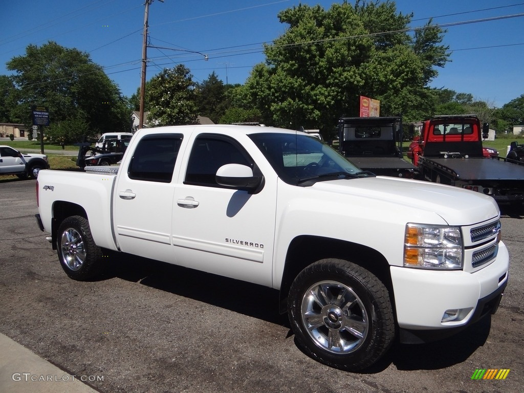 2012 Silverado 1500 LTZ Crew Cab 4x4 - Summit White / Ebony photo #1