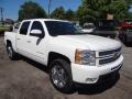 2012 Summit White Chevrolet Silverado 1500 LTZ Crew Cab 4x4  photo #2