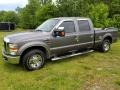 2008 Dark Shadow Grey Metallic Ford F250 Super Duty XLT Crew Cab  photo #1