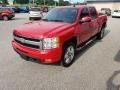 2011 Victory Red Chevrolet Silverado 1500 LTZ Crew Cab 4x4  photo #4