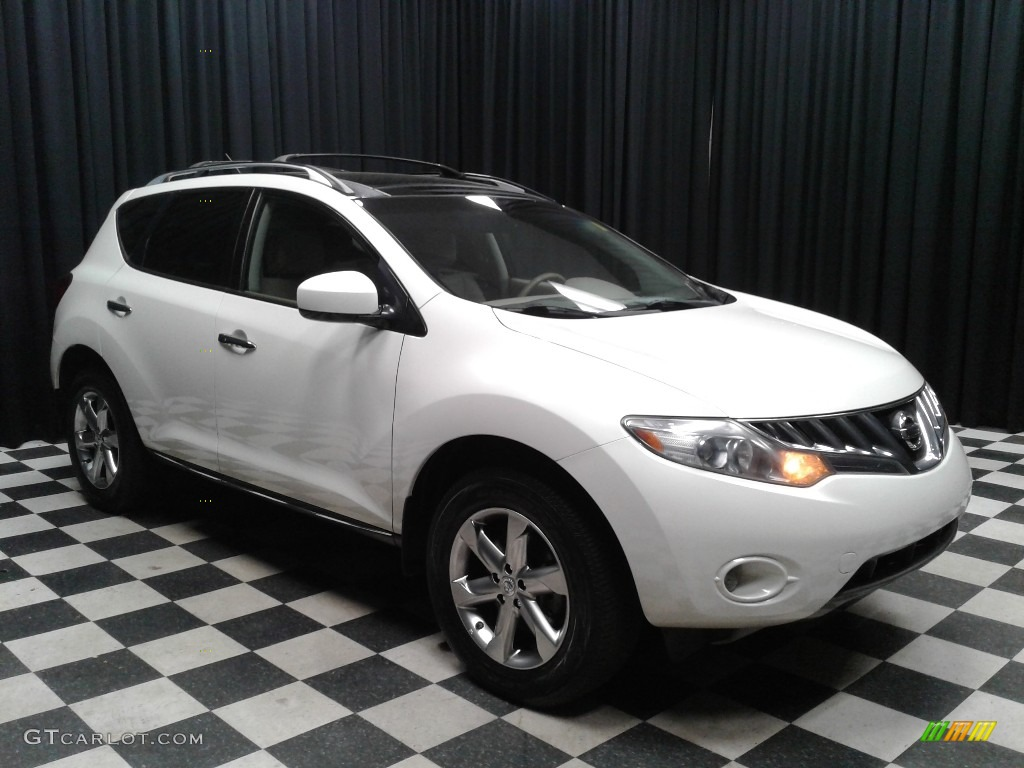2010 Murano SL - Glacier White Pearl / Beige photo #4