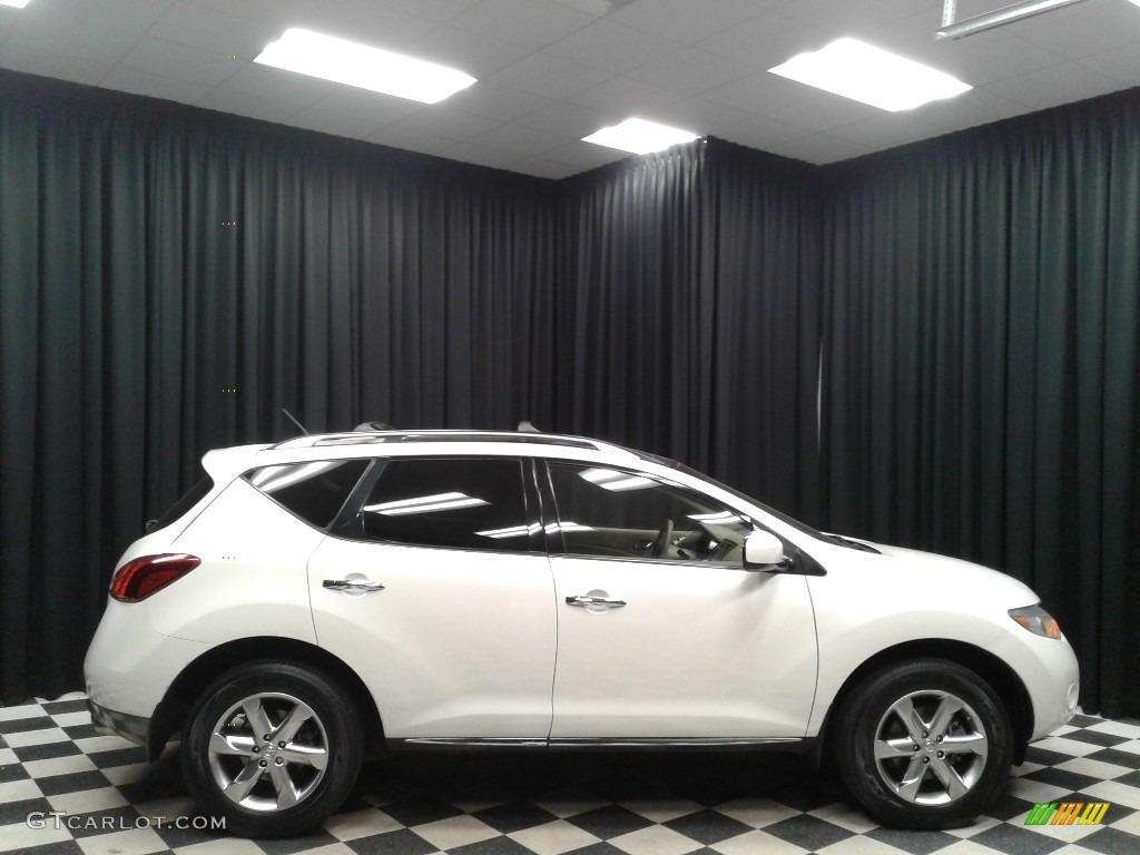 2010 Murano SL - Glacier White Pearl / Beige photo #5