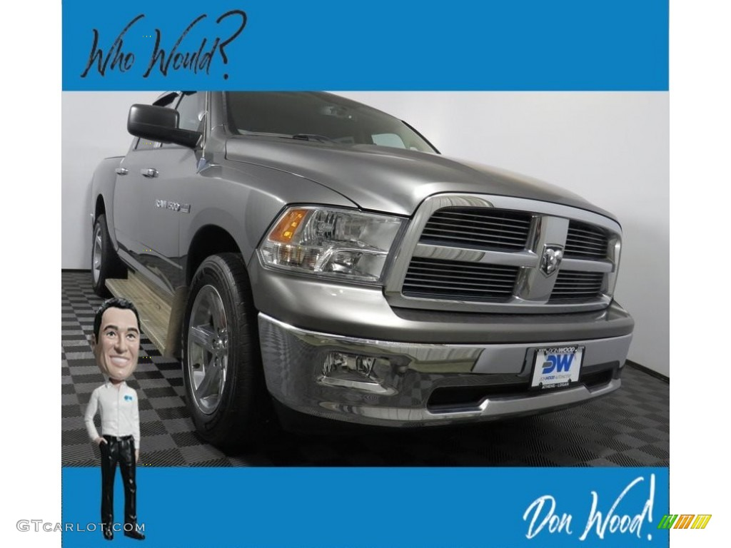 2012 Ram 1500 Big Horn Crew Cab 4x4 - Mineral Gray Metallic / Dark Slate Gray/Medium Graystone photo #1