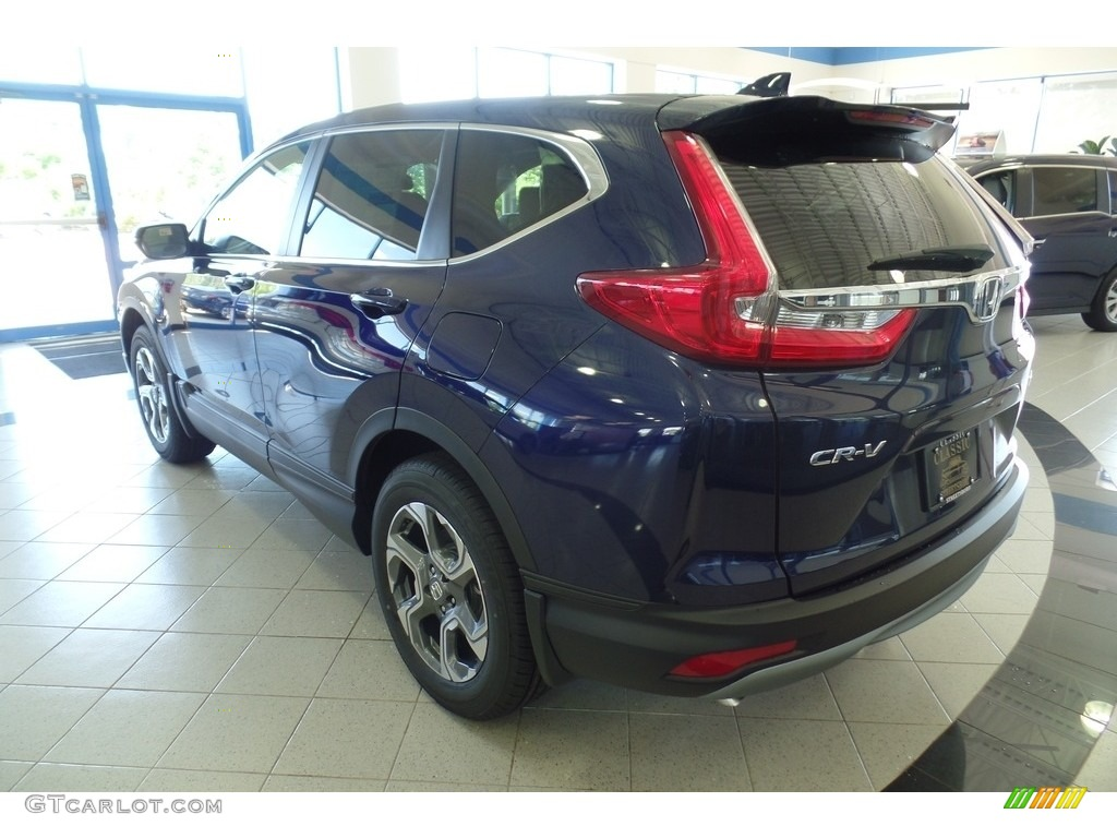 2019 CR-V EX-L - Obsidian Blue Pearl / Gray photo #2