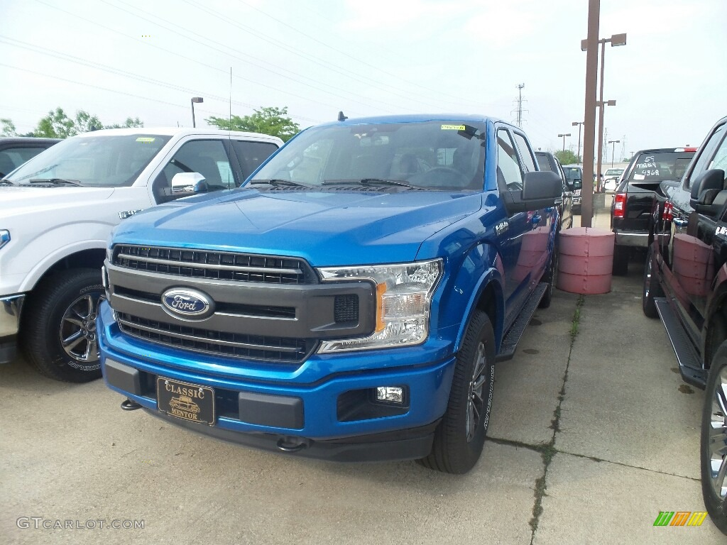 2019 F150 XLT SuperCrew 4x4 - Velocity Blue / Black photo #1