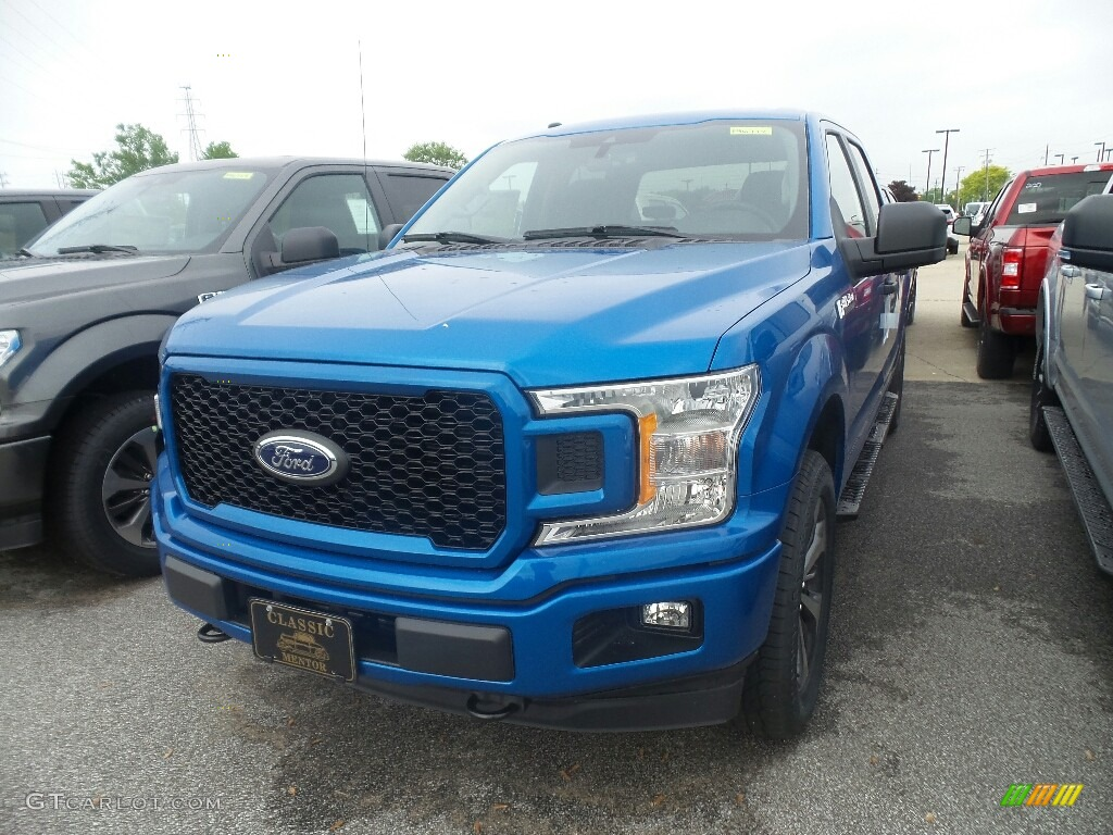 2019 F150 STX SuperCrew 4x4 - Velocity Blue / Black photo #1