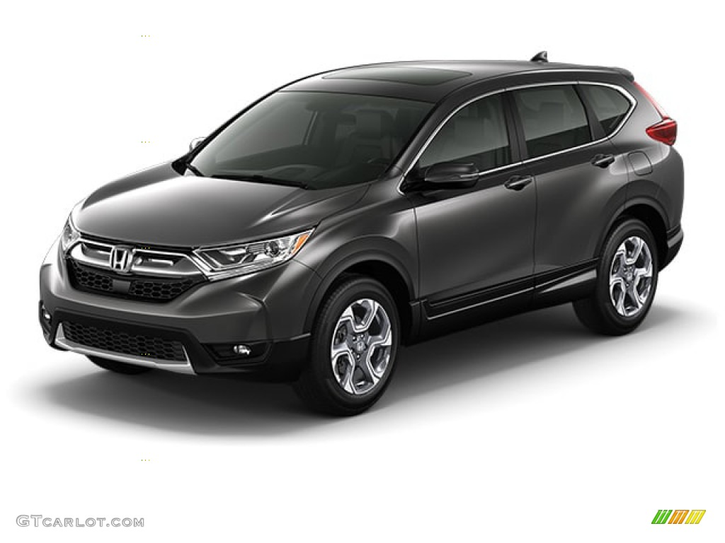 2019 CR-V EX - Modern Steel Metallic / Gray photo #30