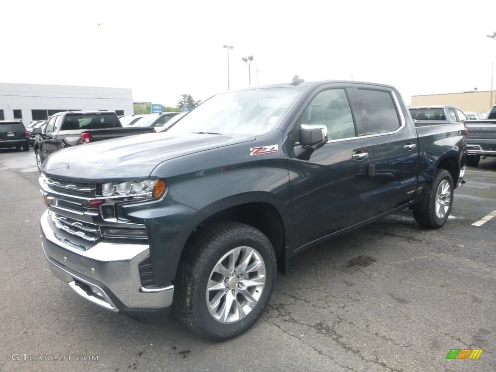 2019 Silverado 1500 LTZ Crew Cab 4WD - Shadow Gray Metallic / Gideon/Very Dark Atmosphere photo #1