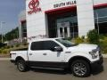 White Platinum - F150 Lariat SuperCrew 4x4 Photo No. 2