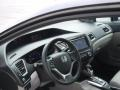 2015 Modern Steel Metallic Honda Civic EX-L Sedan  photo #12