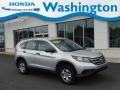 2013 Alabaster Silver Metallic Honda CR-V LX AWD  photo #1