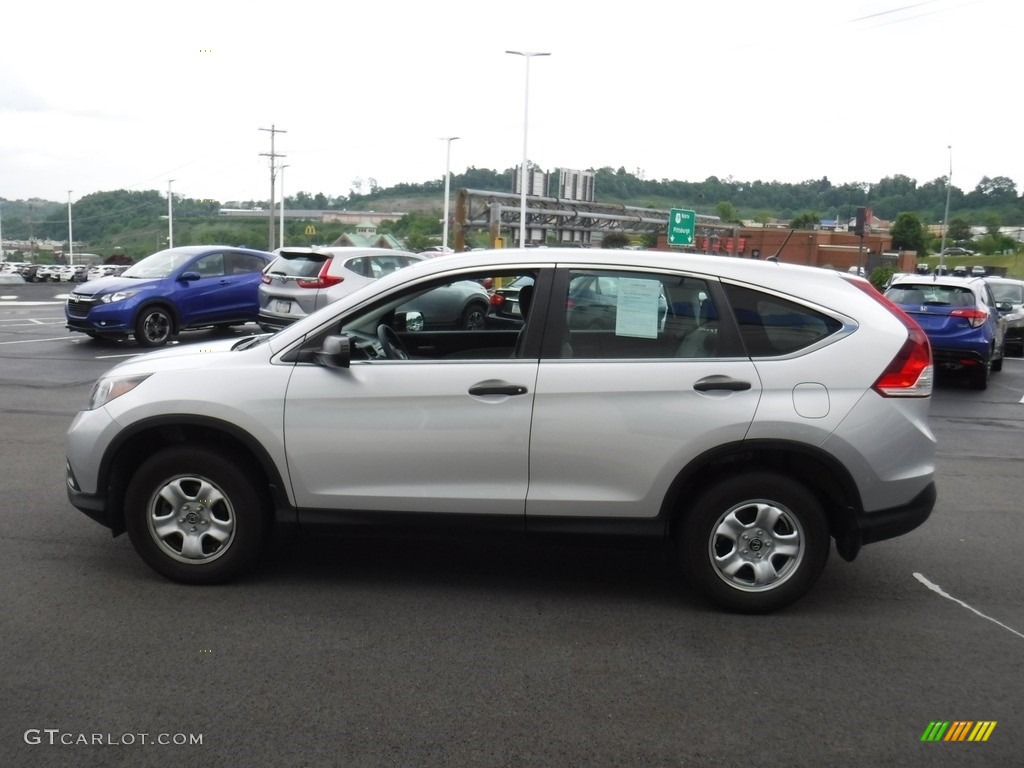 2013 CR-V LX AWD - Alabaster Silver Metallic / Gray photo #5