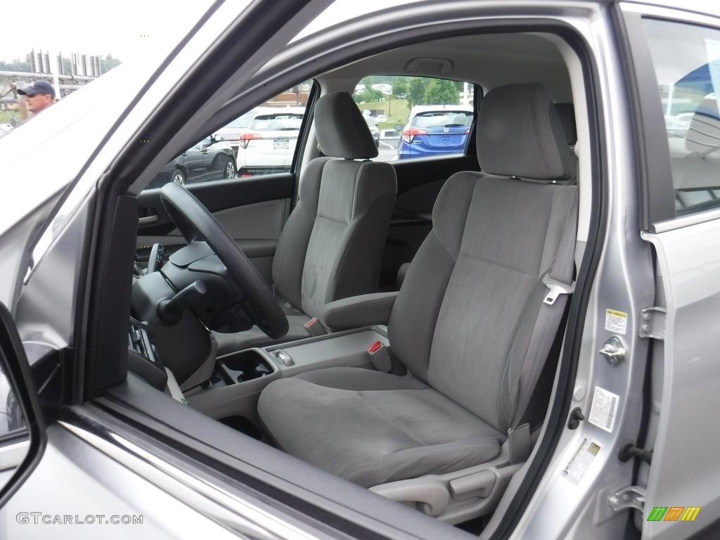 2013 CR-V LX AWD - Alabaster Silver Metallic / Gray photo #12