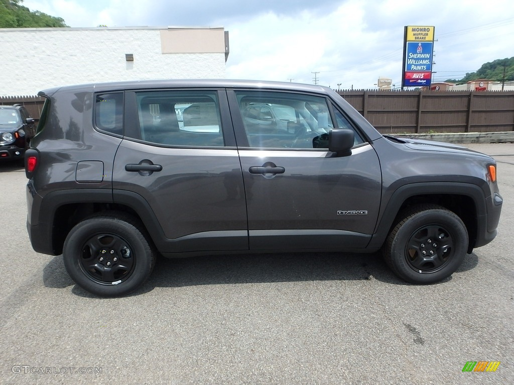 2019 Renegade Sport 4x4 - Granite Crystal Metallic / Black photo #7