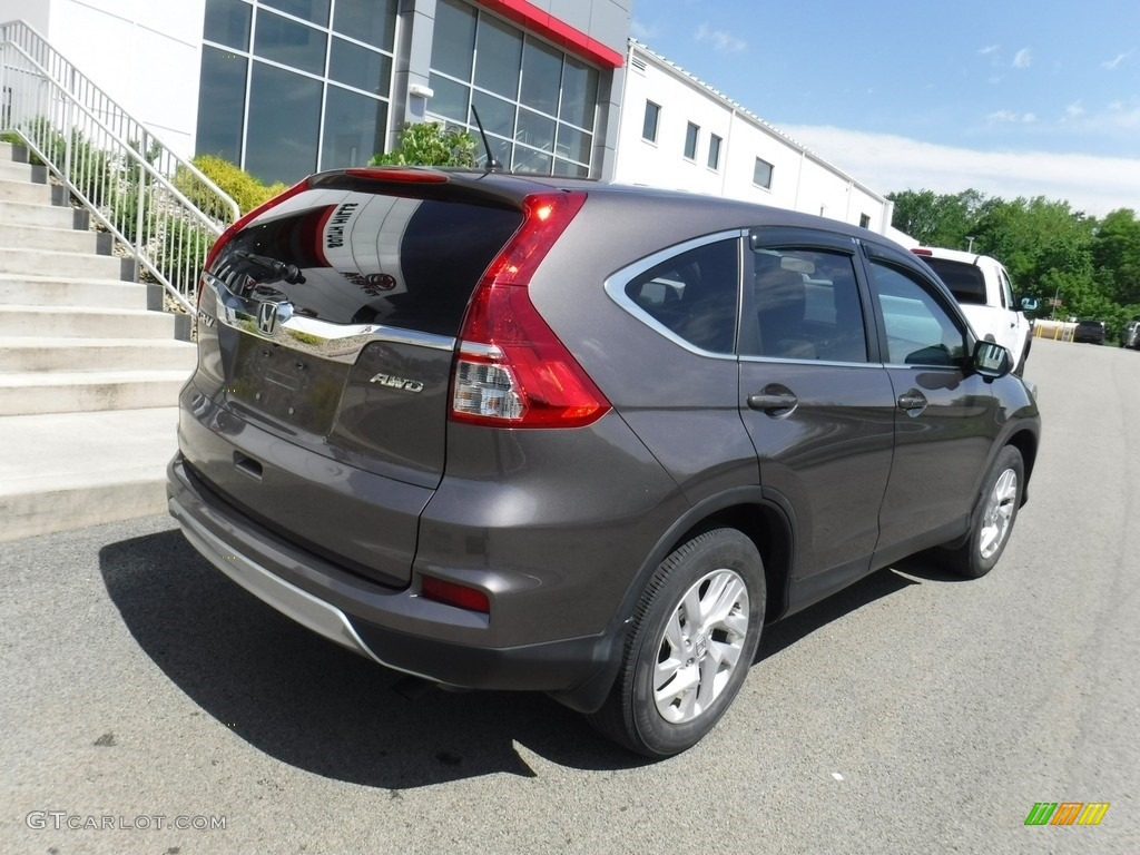 2016 CR-V EX AWD - Urban Titanium Metallic / Beige photo #7