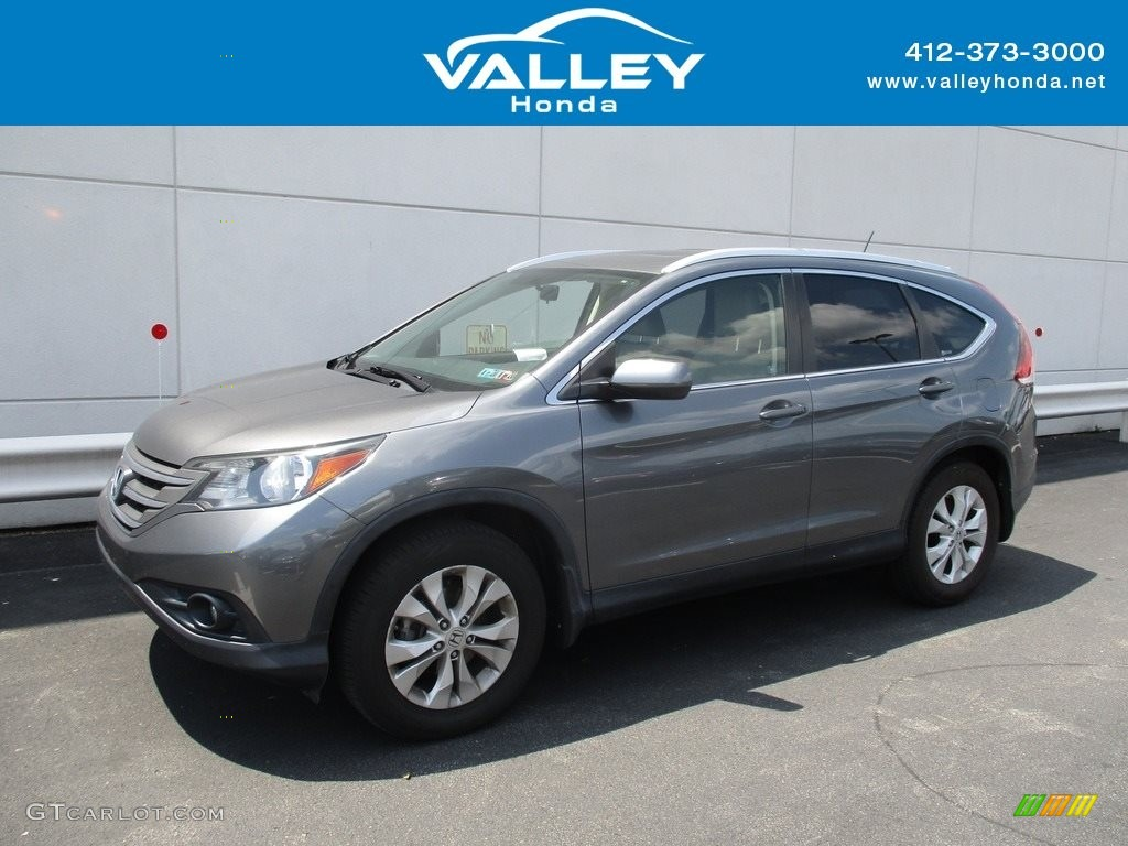 2012 CR-V EX-L 4WD - Urban Titanium Metallic / Gray photo #1