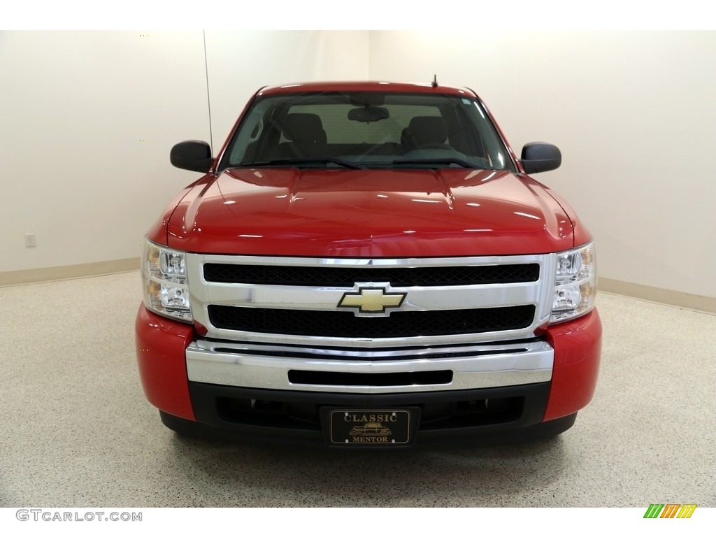2011 Silverado 1500 LS Extended Cab - Victory Red / Dark Titanium photo #2