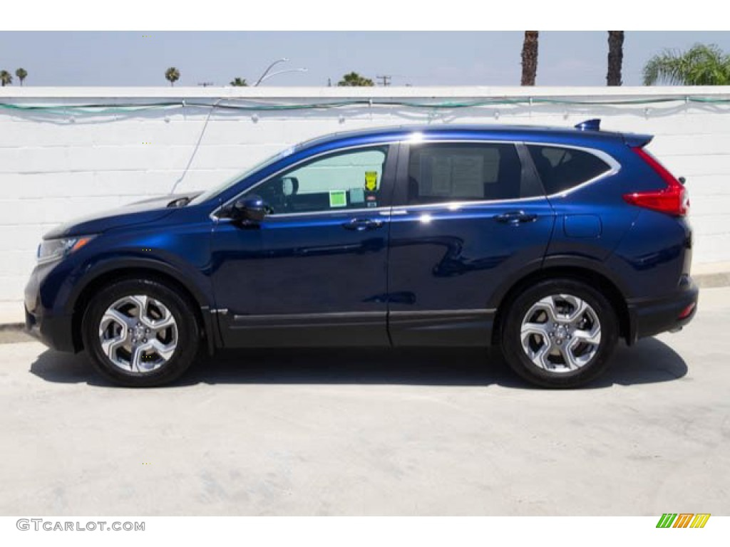 2017 CR-V EX-L - Obsidian Blue Pearl / Gray photo #8
