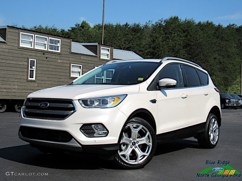 2017 Escape Titanium 4WD - White Platinum / Charcoal Black photo #1