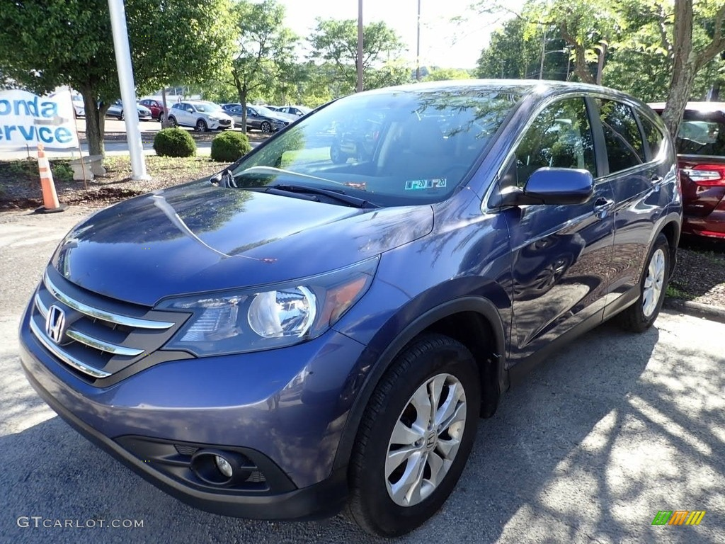 2013 CR-V EX AWD - Twilight Blue Metallic / Black photo #1