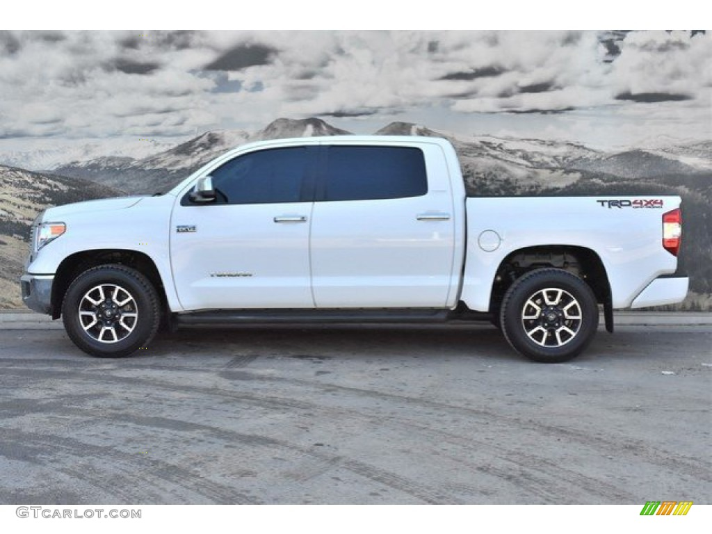 2017 Tundra Limited CrewMax 4x4 - Super White / Black photo #6
