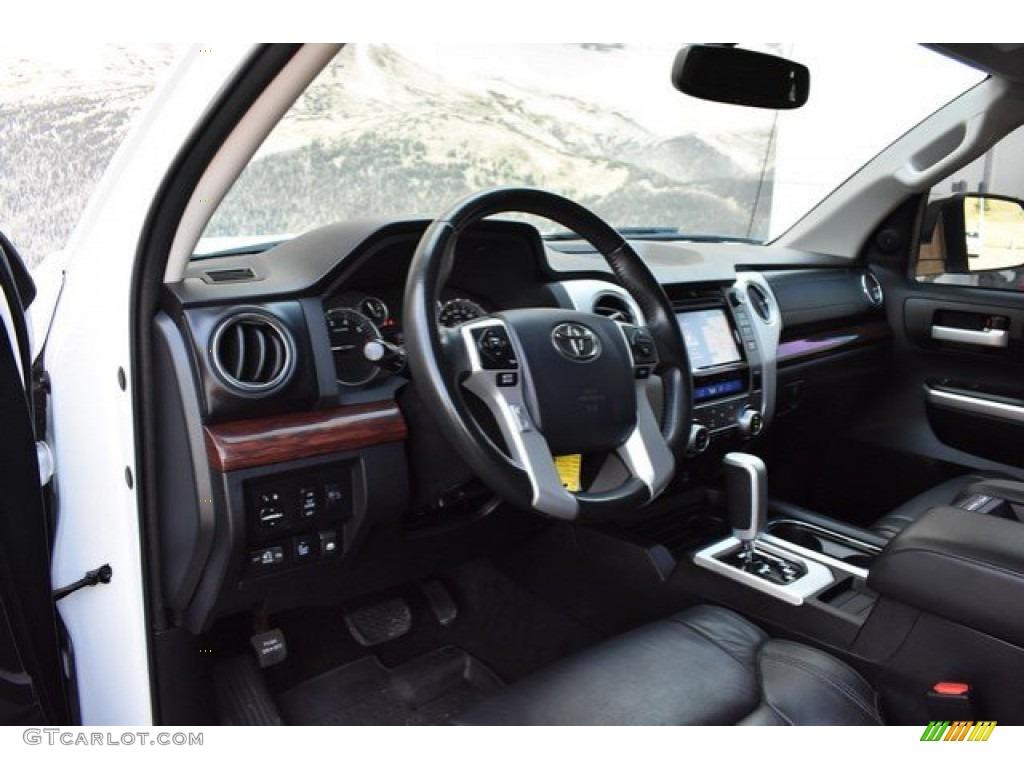 2017 Tundra Limited CrewMax 4x4 - Super White / Black photo #10
